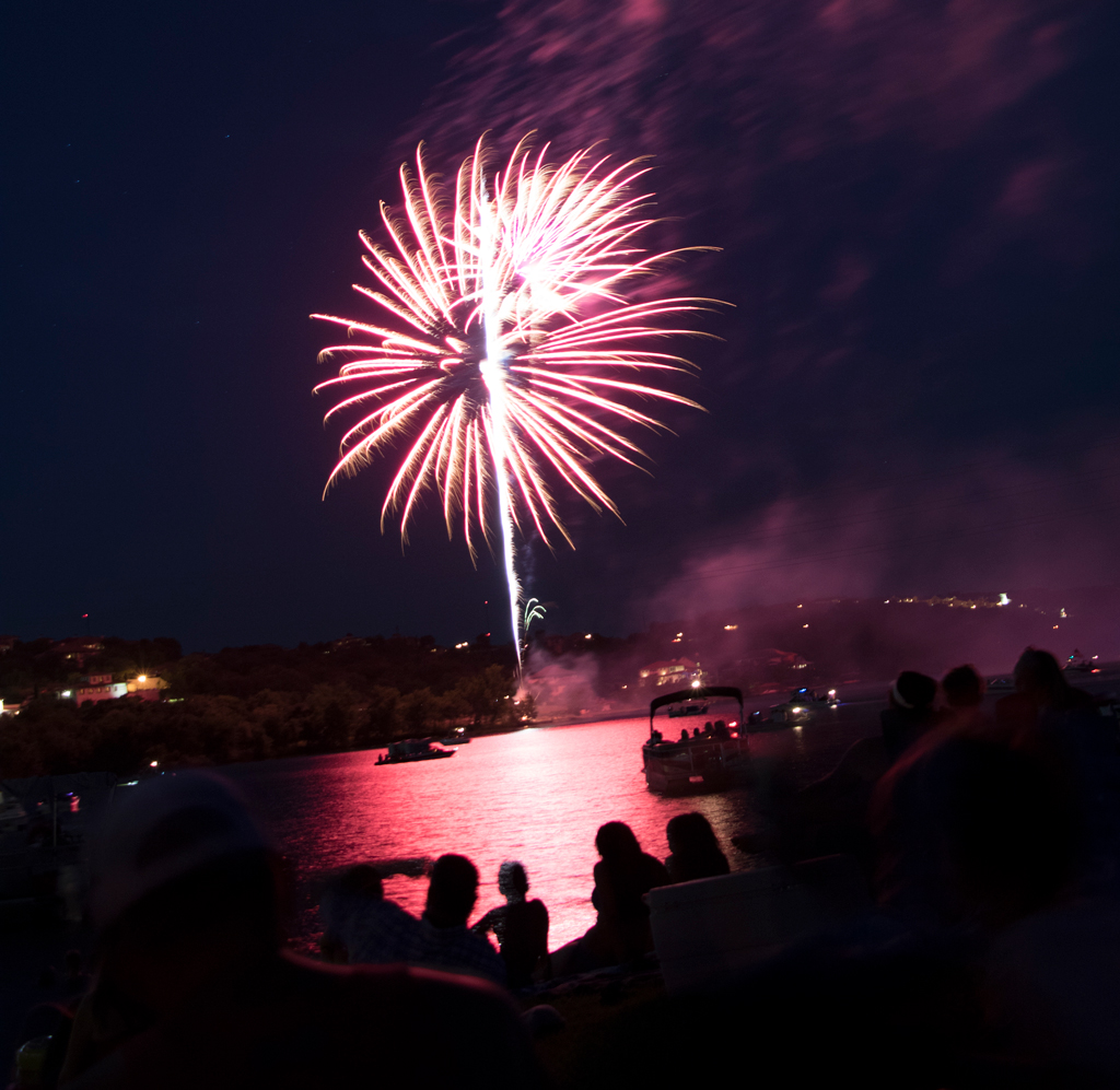 Lake Marble Falls Fourth of July fireworks show