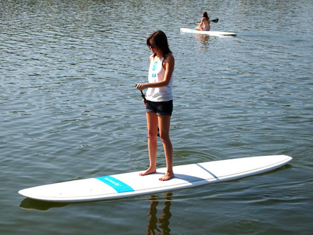 Standup paddleboarding on the Highland Lakes